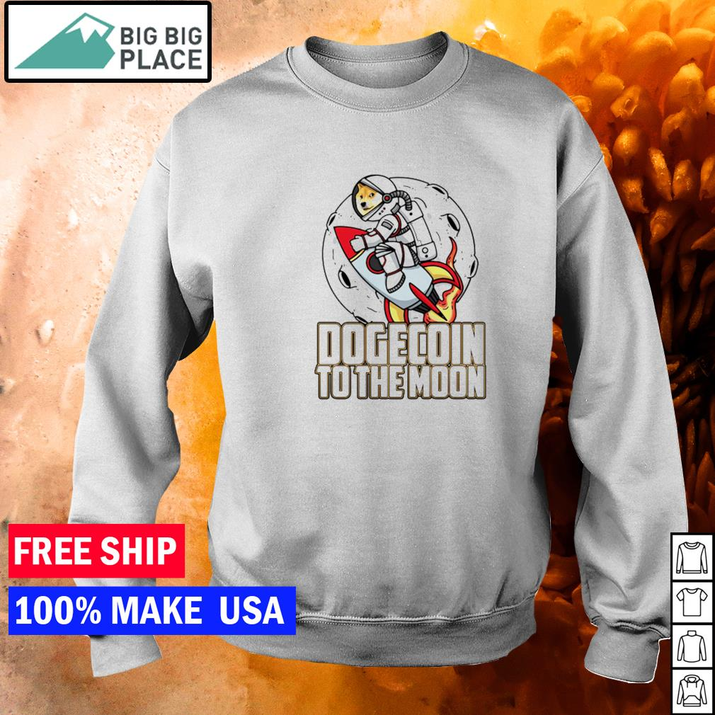 Dogecoin to the moon s sweater