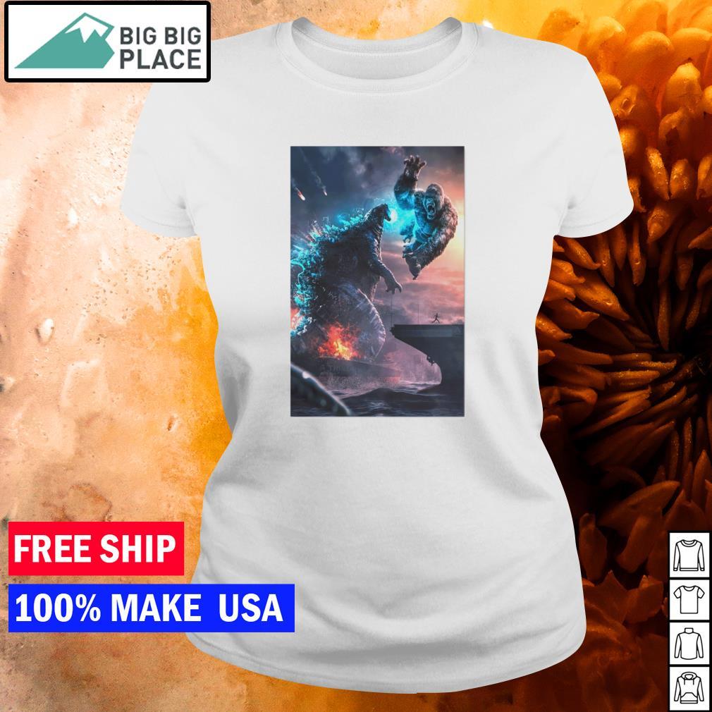 Godzilla vs King Kong s ladies tee