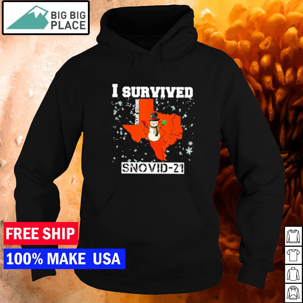 I survived Texas strong snovid-21 snowman covid s hoodie