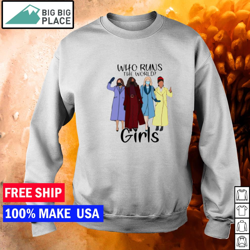 Kamala Harris who runs the world girls s sweater