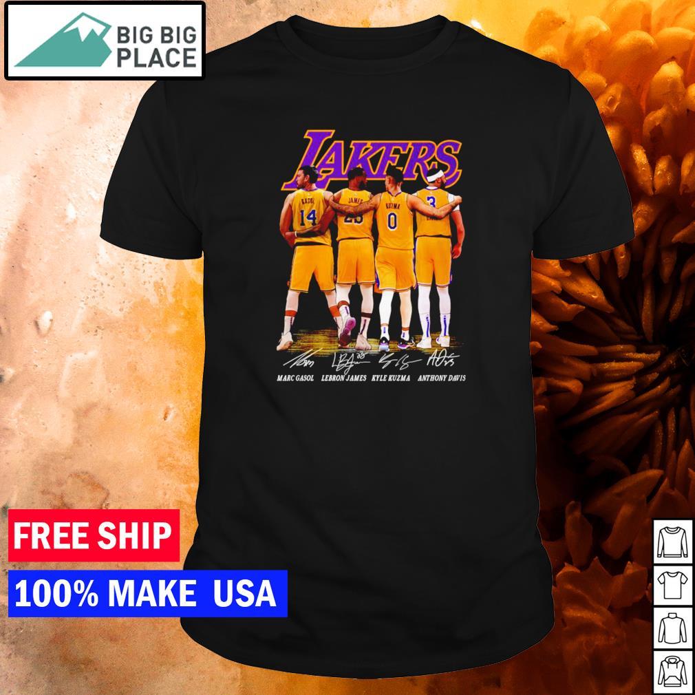 Los Angeles Lakers Gasol James Kuzma and Davis signature shirt