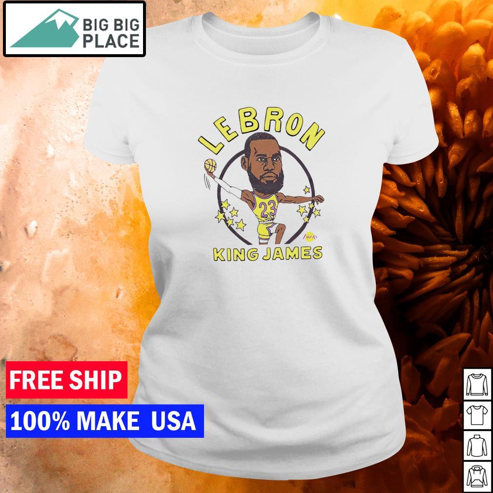 Los Angeles Lakers Lebron King James s ladies tee