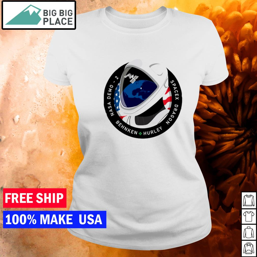 Nasa demo 2 behnken hurley spacex dragon s ladies tee