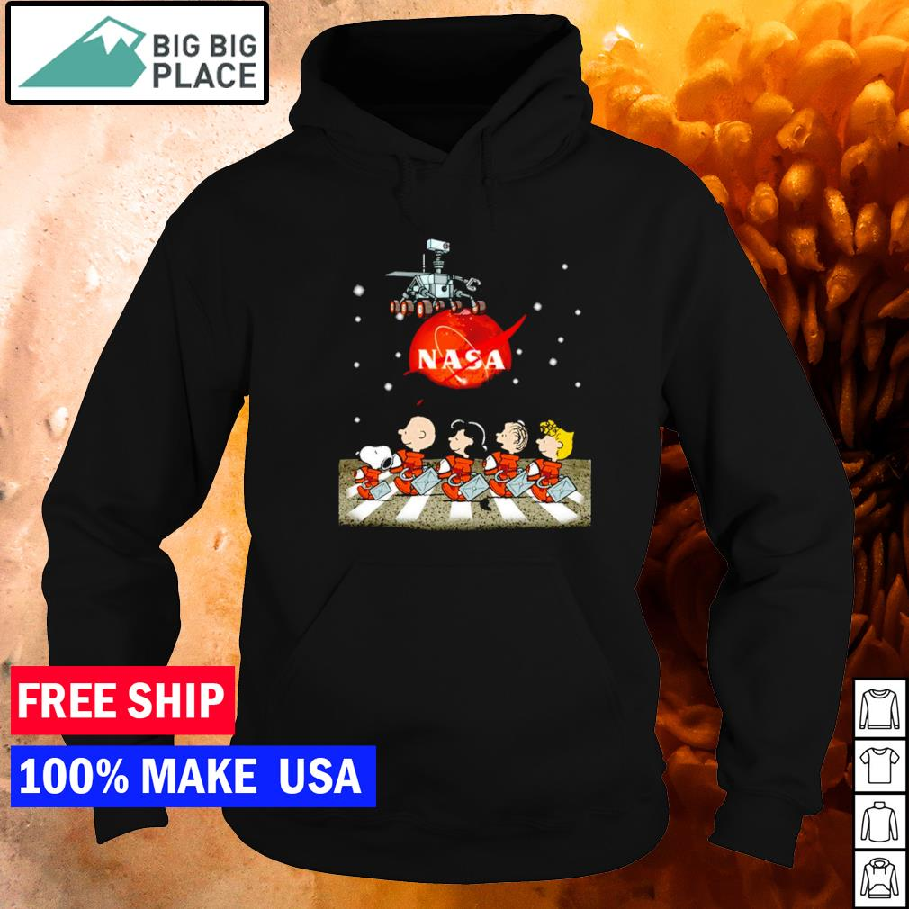 Nasa Mars perseverance Snoopy Abbey Road s hoodie