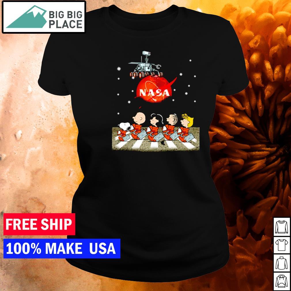 Nasa Mars perseverance Snoopy Abbey Road s ladies tee
