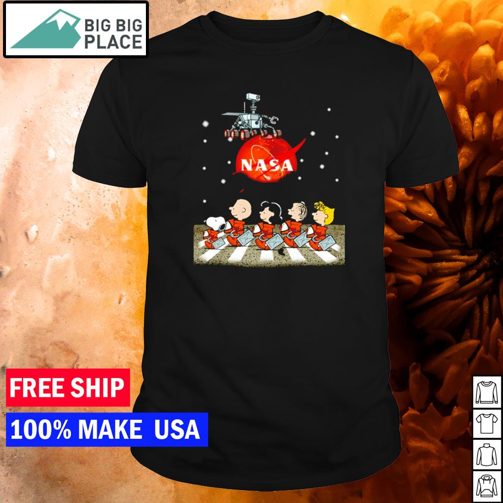 Nasa Mars perseverance Snoopy Abbey Road shirt