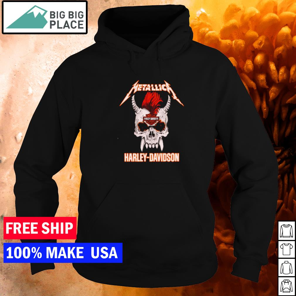 Skull Metallic Harley Davidson Rock n' Roll s hoodie