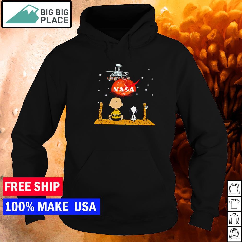 Snoopy and Charlie Brown NASA Mars 2020 s hoodie