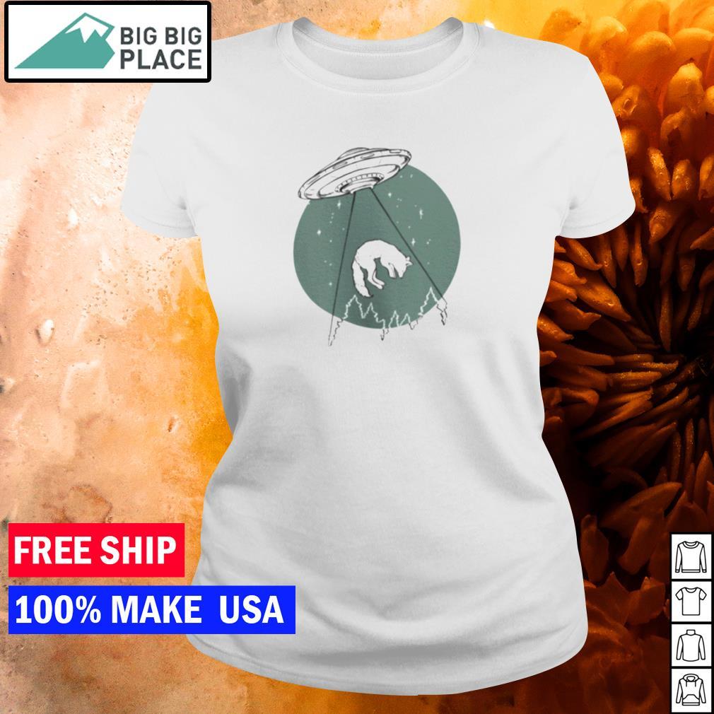 UFO invasion and wolf s ladies tee