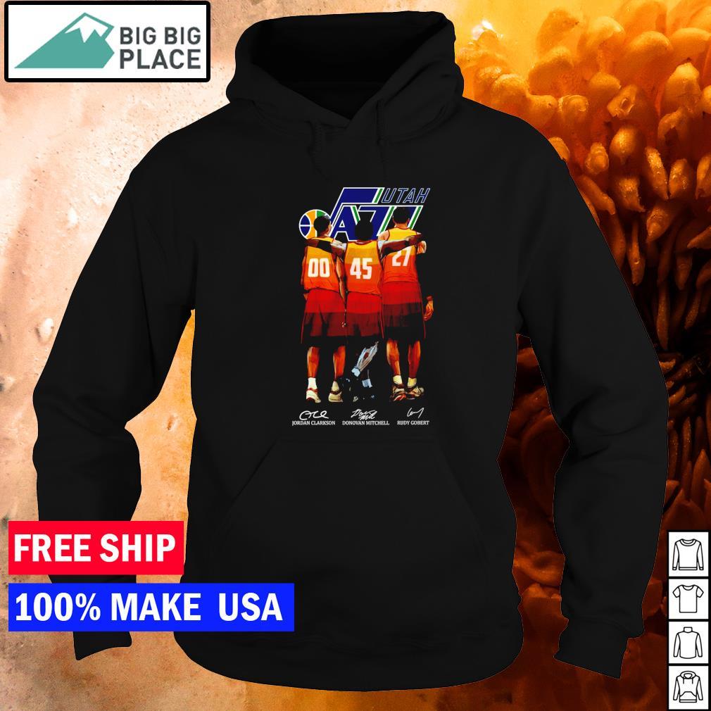 Utah Jazz Clarkson Mitchell and Gobert signature NBA s hoodie