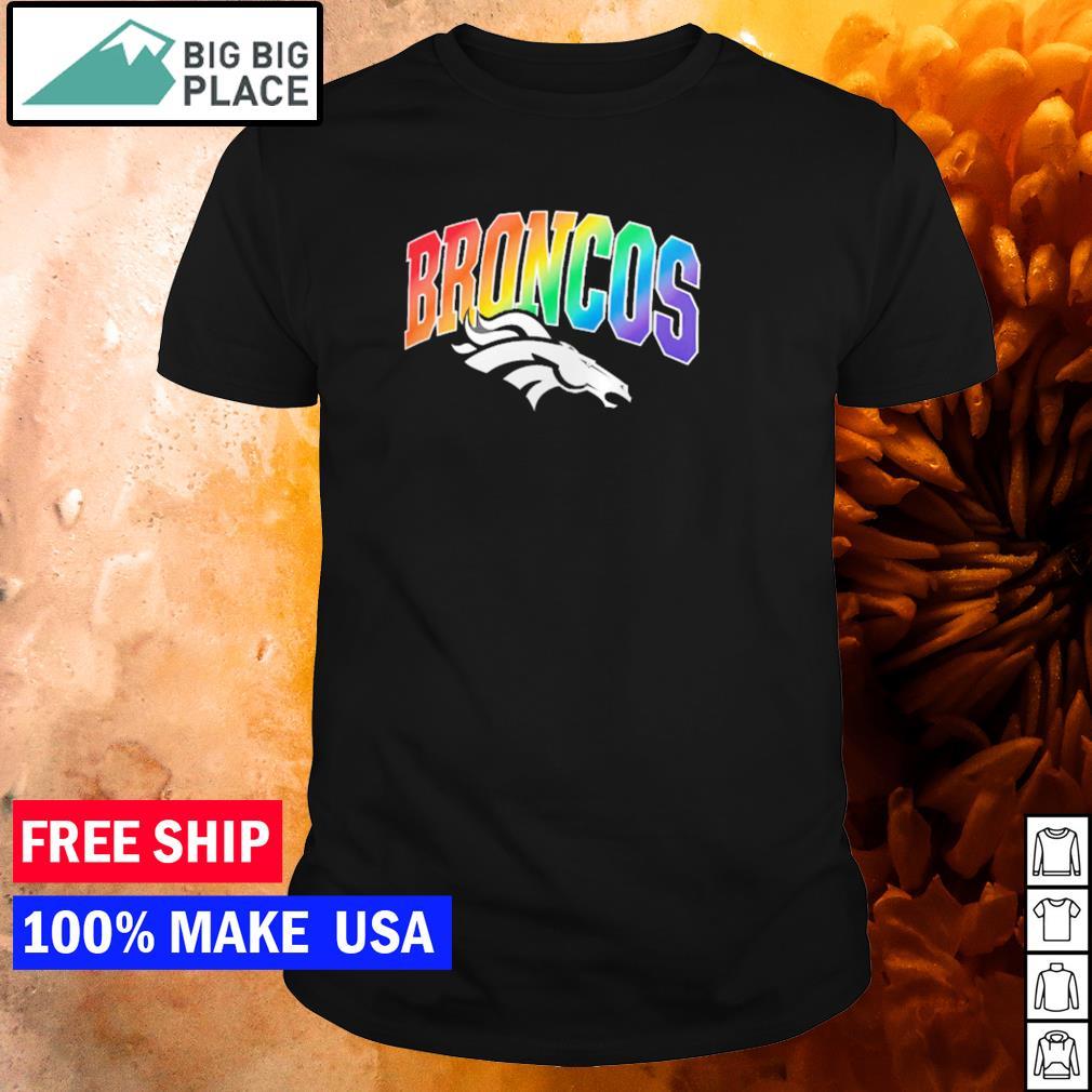 Denver Broncos logo team NFL LGBT shirt