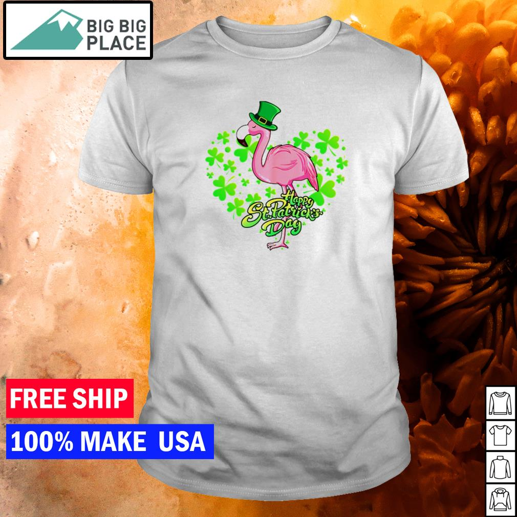 Flamingo happy St Patrick's Day shirt