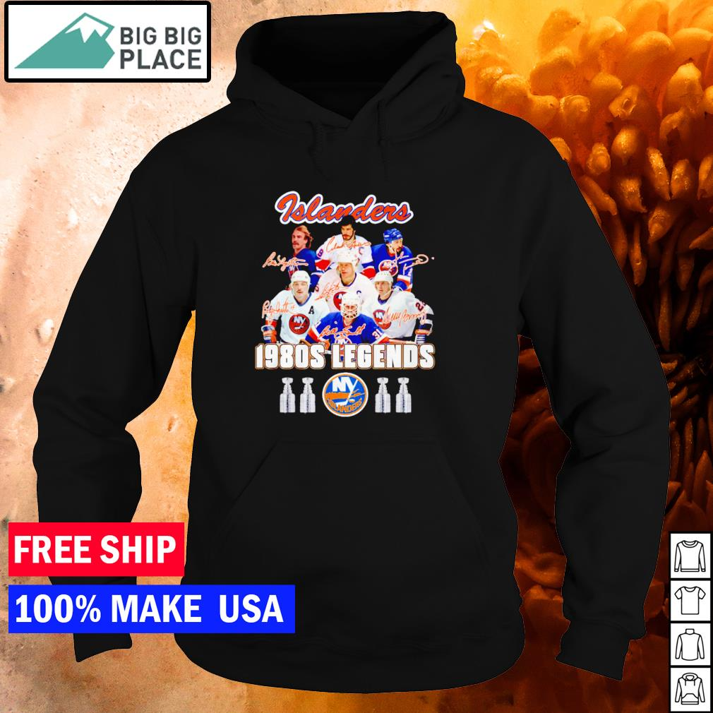 New York Islanders 1980s legends ice hockey signature s hoodie