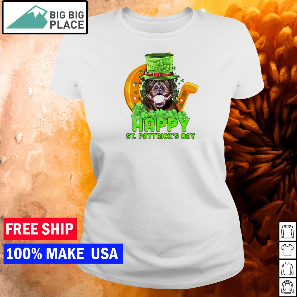 Pitbull happy St Patrick's Day s ladies tee