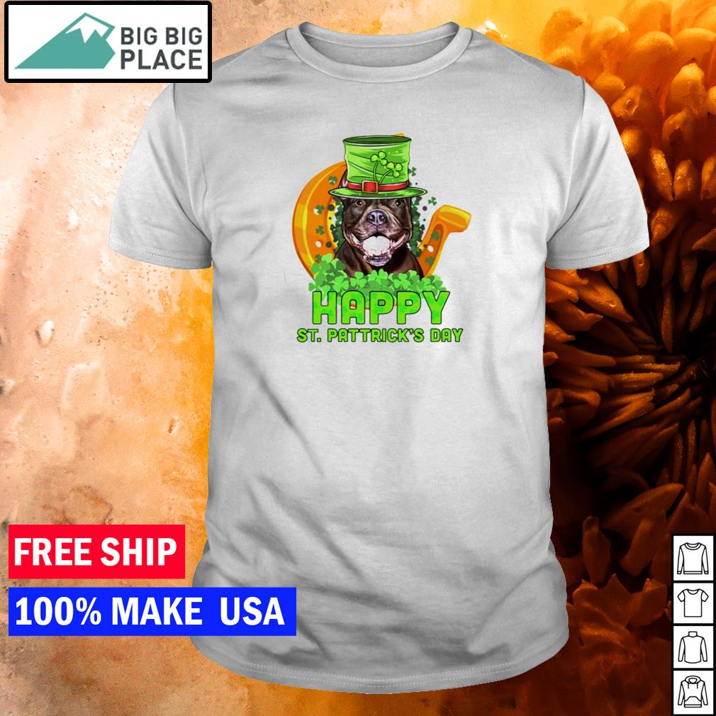 Pitbull happy St Patrick's Day shirt