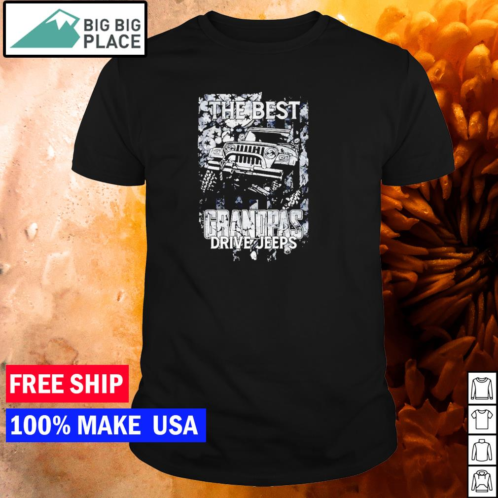 The best grandpas drive Jeep American Flag shirt