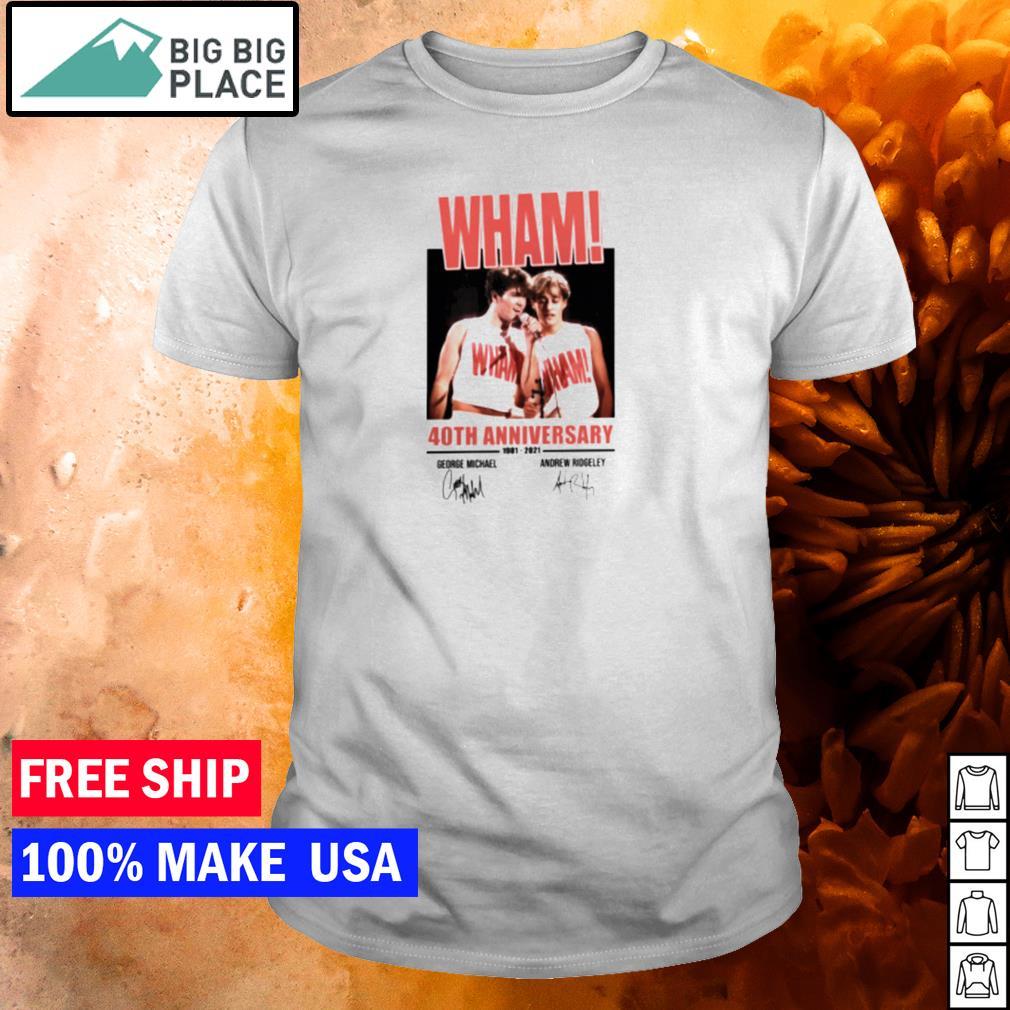 Wham 40th anniversary 1981-2021 George Michael and Andrew Ridgeley signature shirt