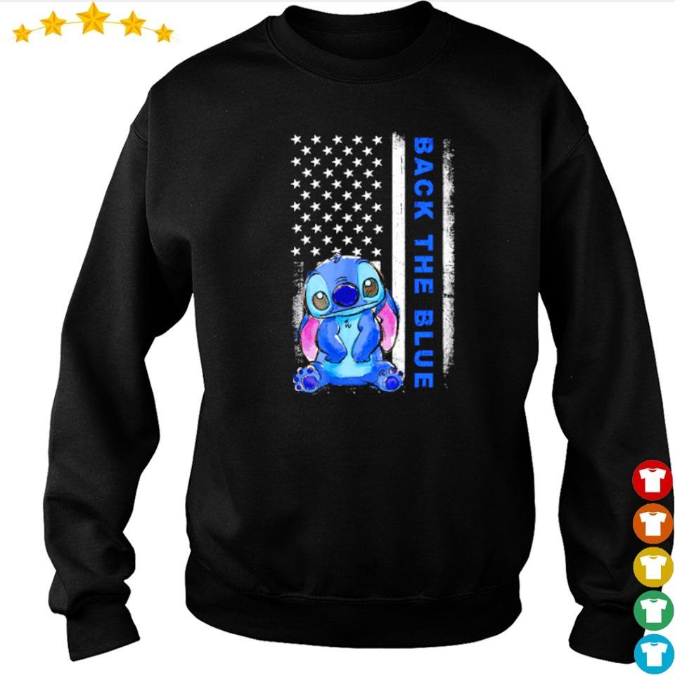 American Flag Stitch Back the blue s sweater