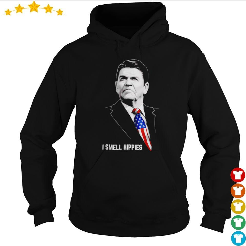 I smell Hippies Ronald Reagan America USA s hoodie