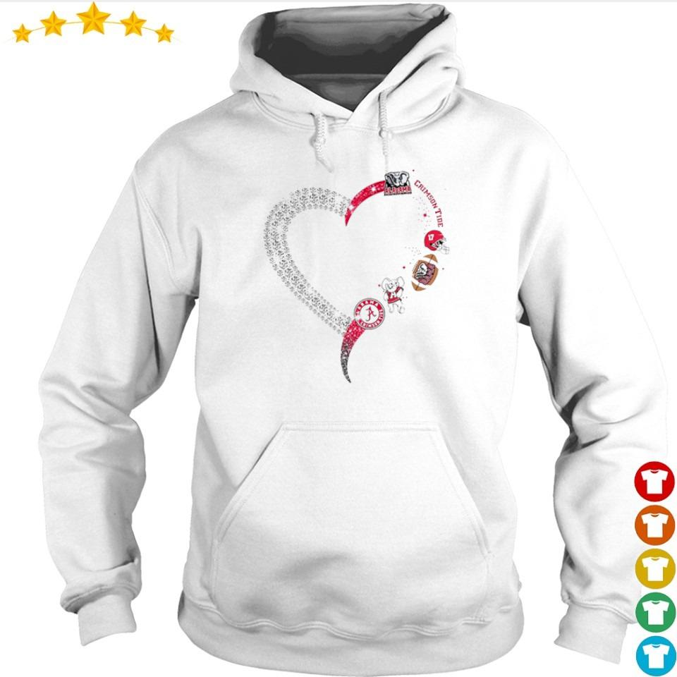 Alabama Crimson Tide diamonds heart s hoodie