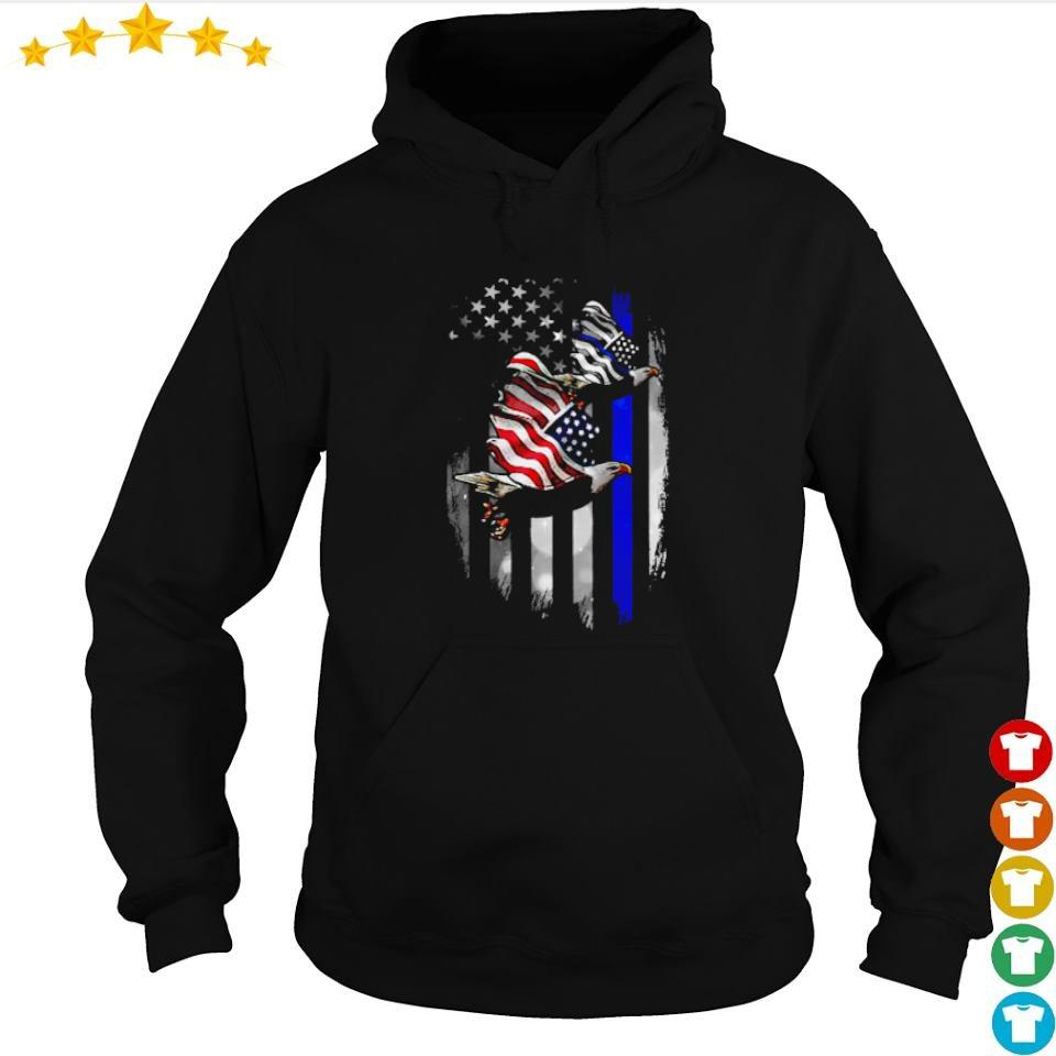 American Flag Eagle bring back the blue s hoodie