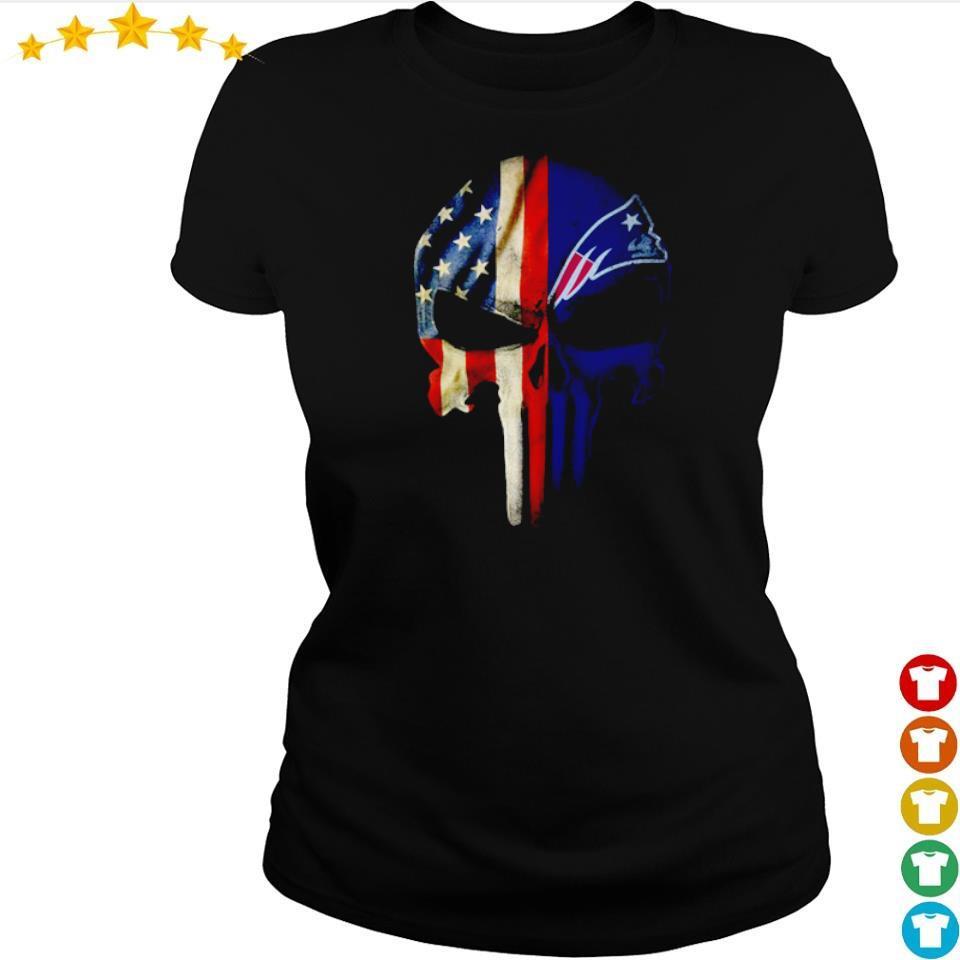 American Flag New England Patriots s ladies tee