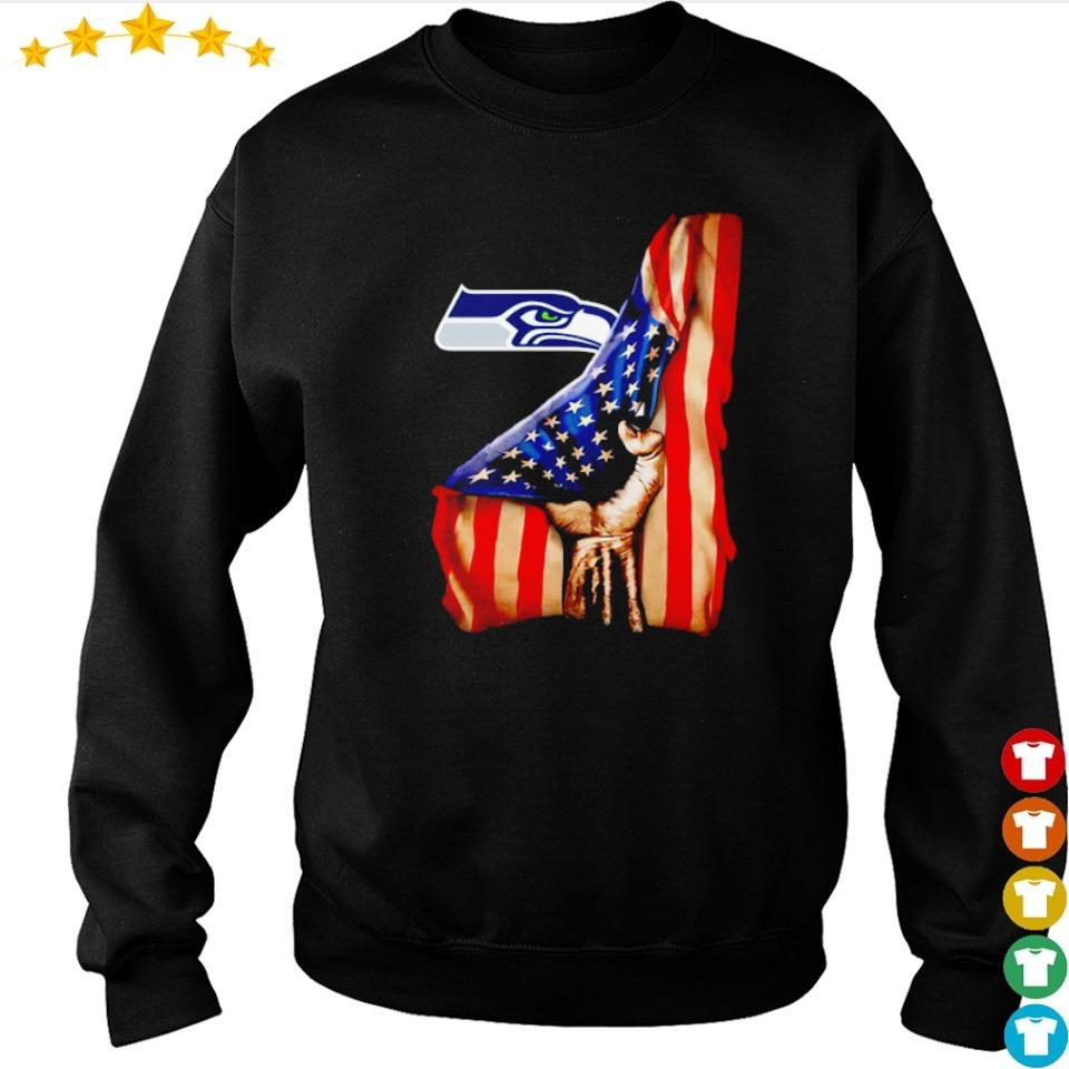 American Flag Seattle Seahawks s sweater
