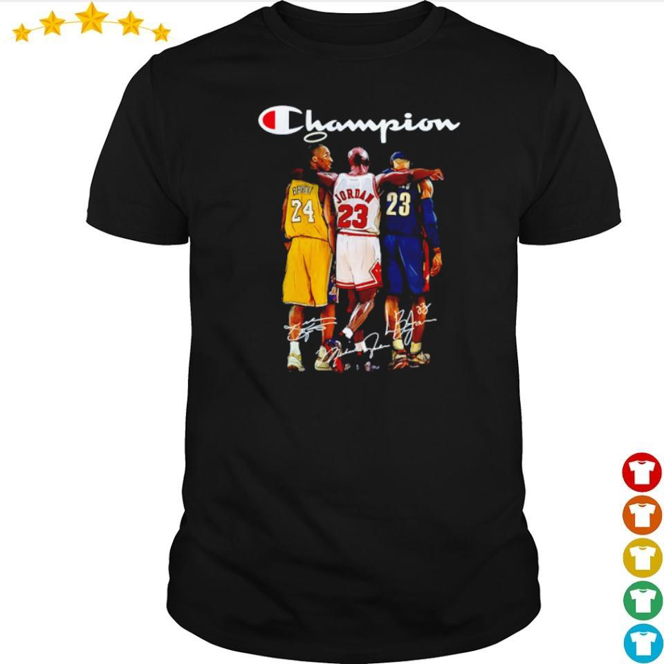 Champion Kobe Bryant Michael Jordan Lebron James shirt