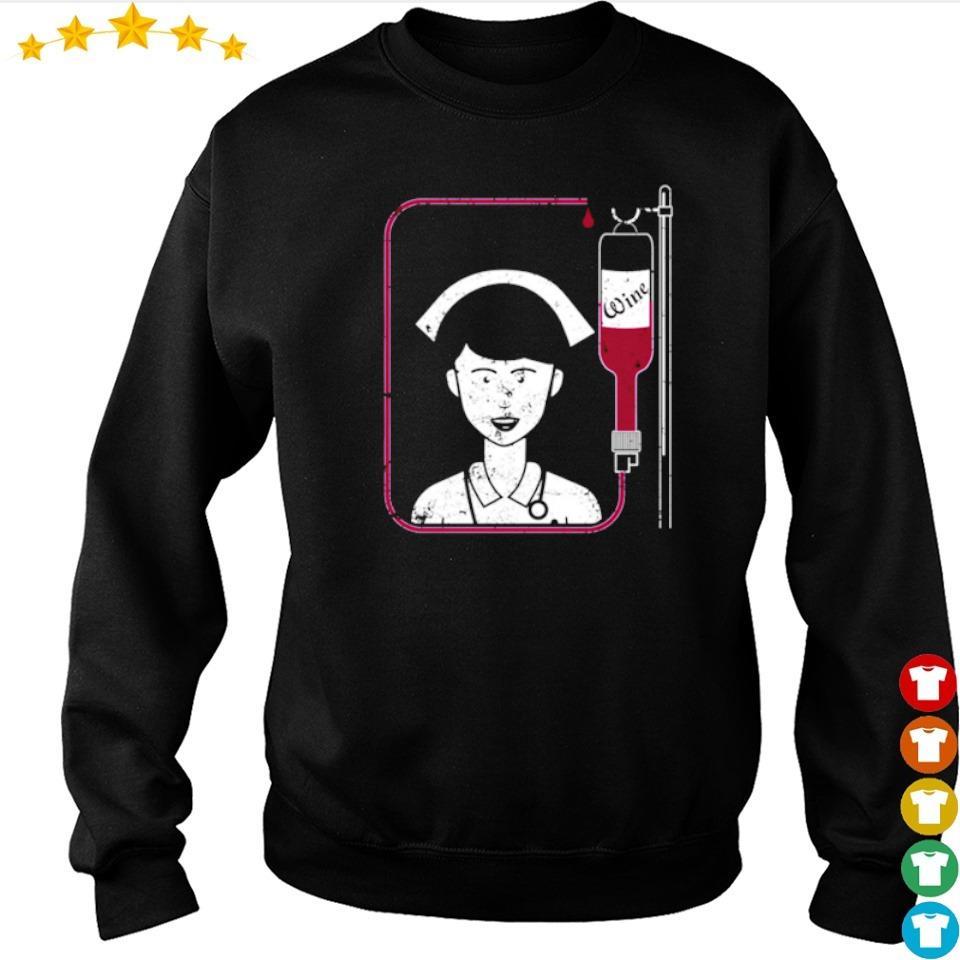 Funny Nurse Wine Iv Unique Nurse Gifts Wine s sweater