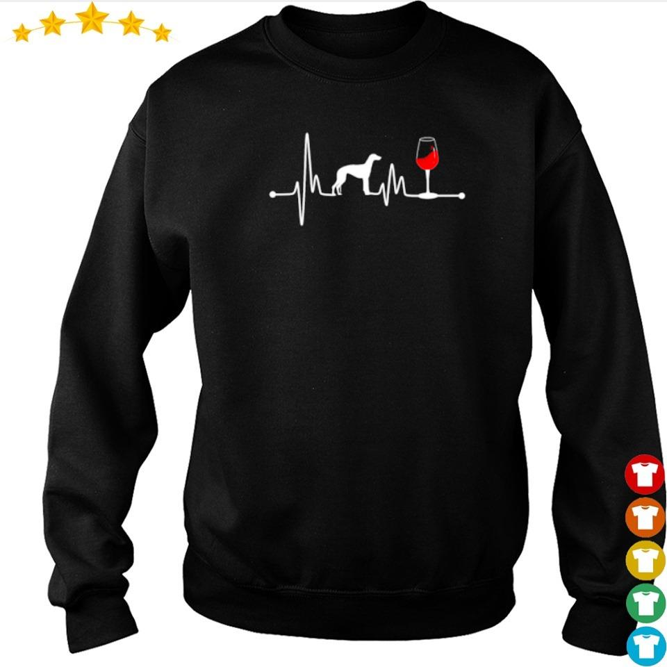 Heartbeat Ekg Pulse Greyhound And Wine s sweater