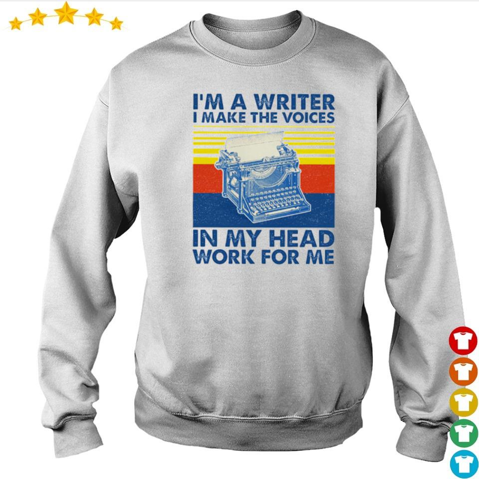 I'm a writter I make the voices in my head work for me vintage s sweater