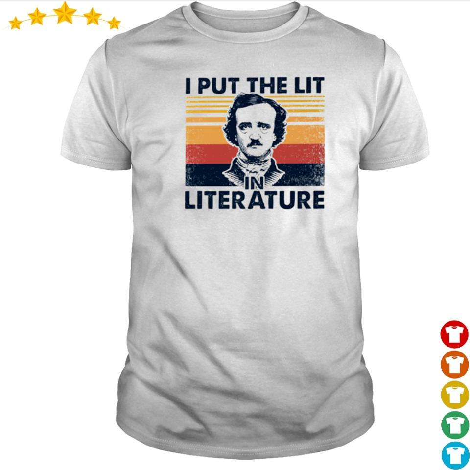 I put the lit in the literature shirt