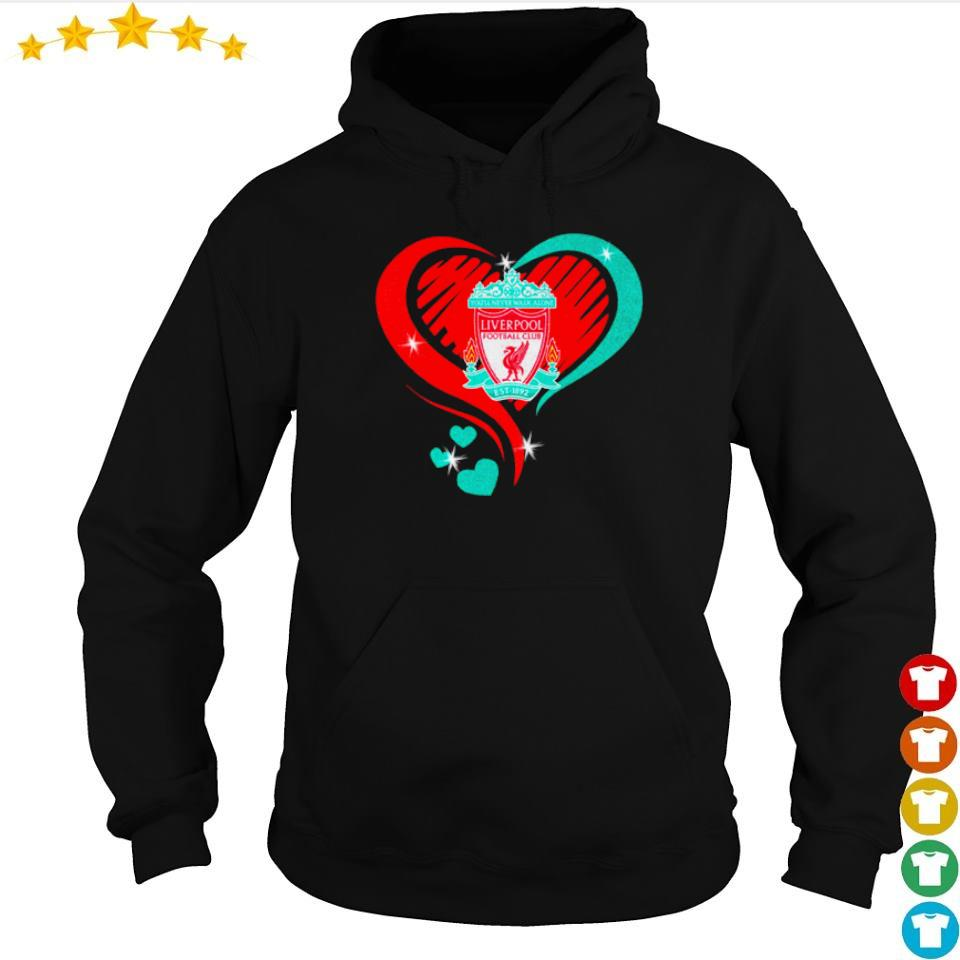 Liverpool Football Club Love heart s hoodie