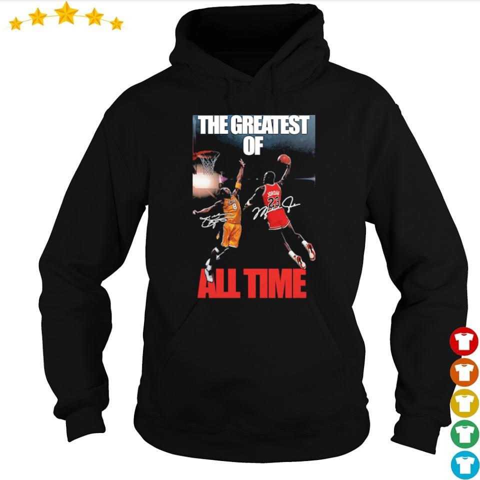 Michael Jordan Kobe Bryant the greatest of all time signatures s hoodie