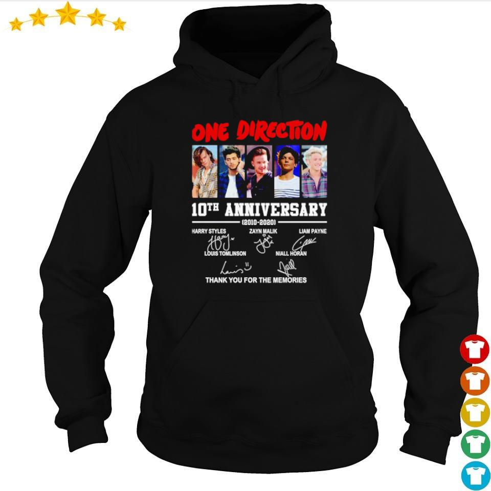 One Direction 10th anniversary thank you for the memories s hoodie
