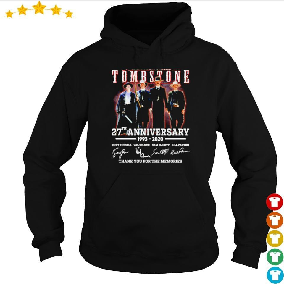 Tombstone 27th anniversary thank you for the memories signatures s hoodie