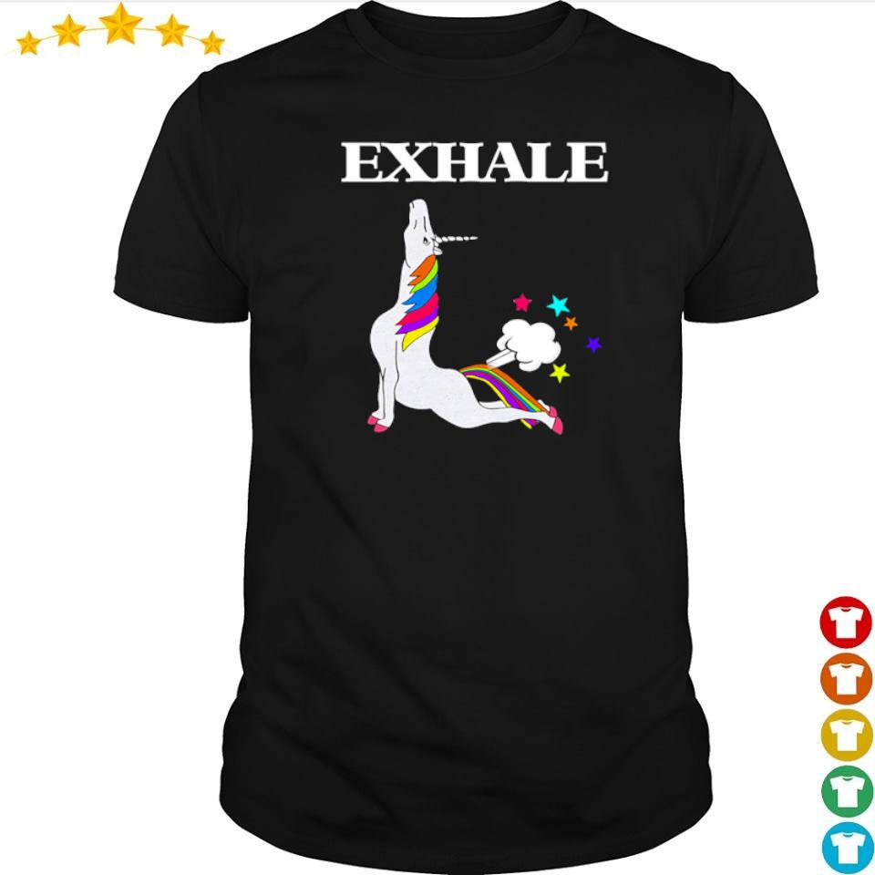 Unicorn exhale I love yoga shirt