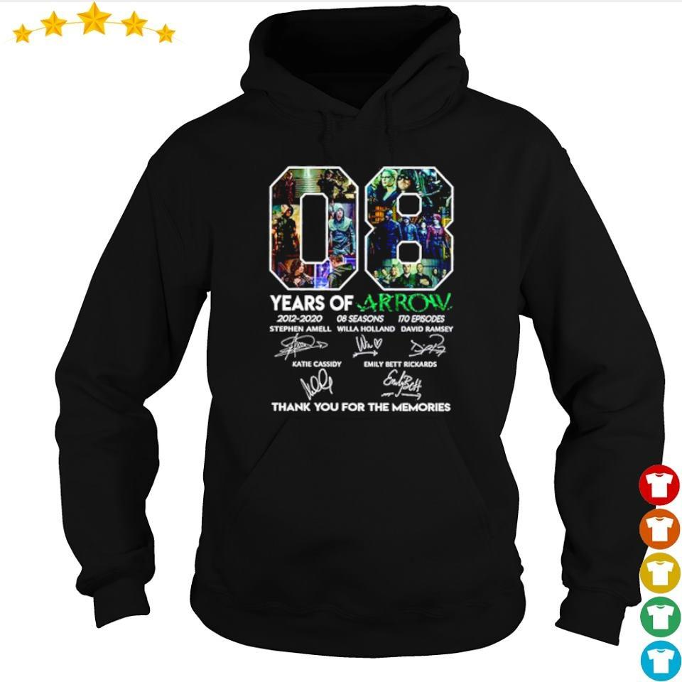 08 years of Arrow thank you for the memories signatures s hoodie