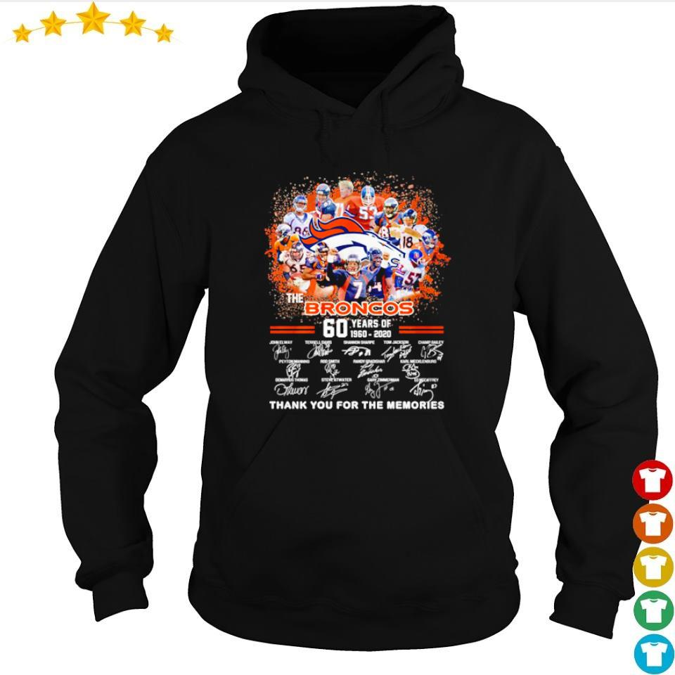 60 years of The Broncos thank you for the memories s hoodie