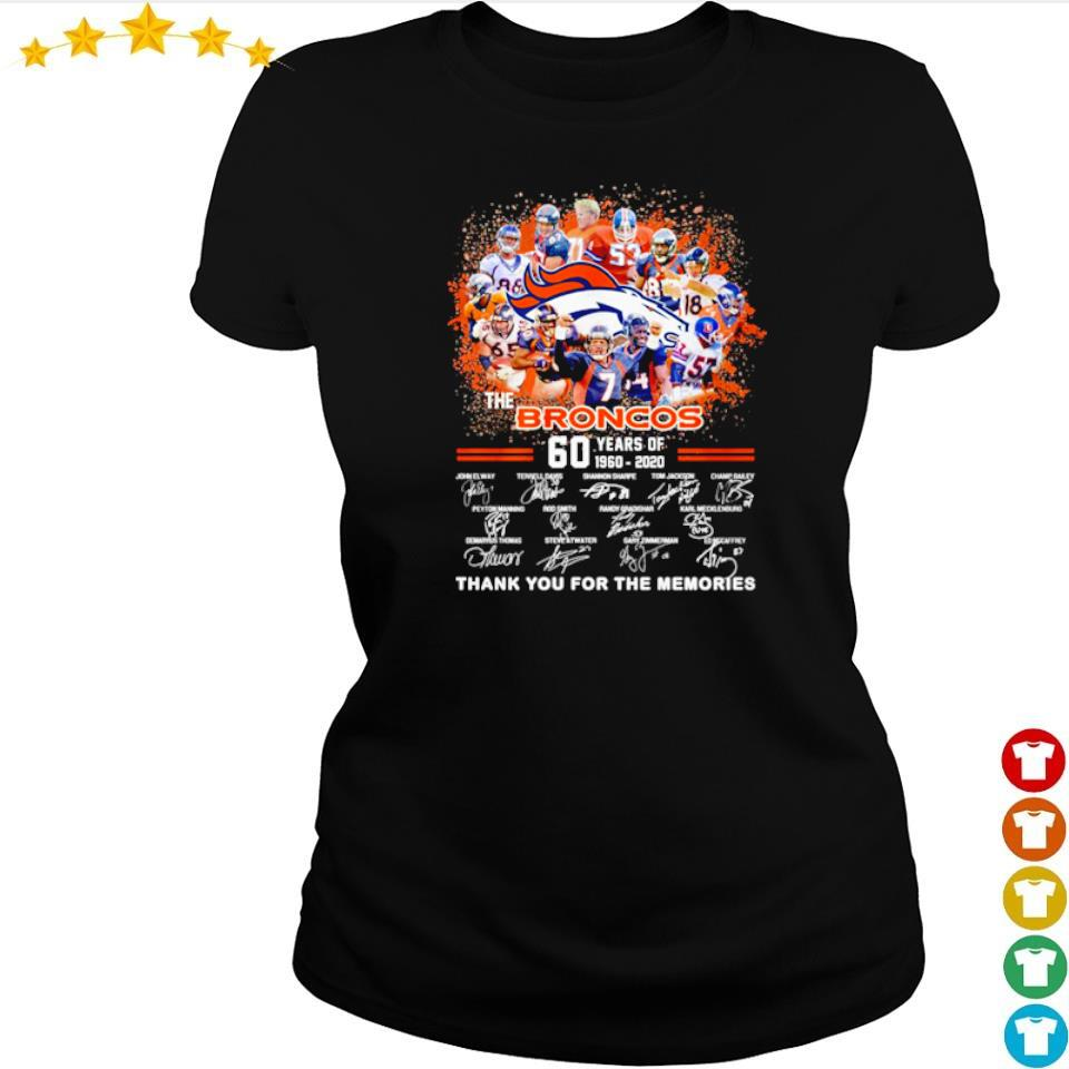 60 years of The Broncos thank you for the memories s ladies tee