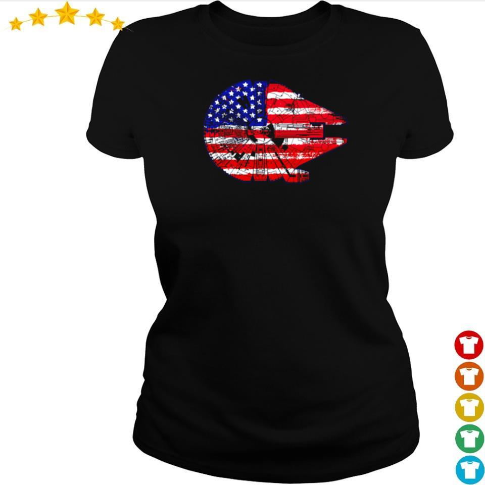 American Flag Death Star s ladies tee