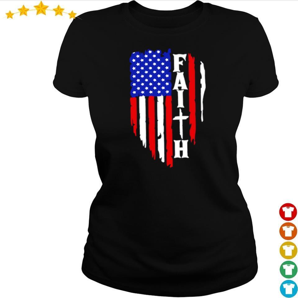 American Flag Faith s ladies tee
