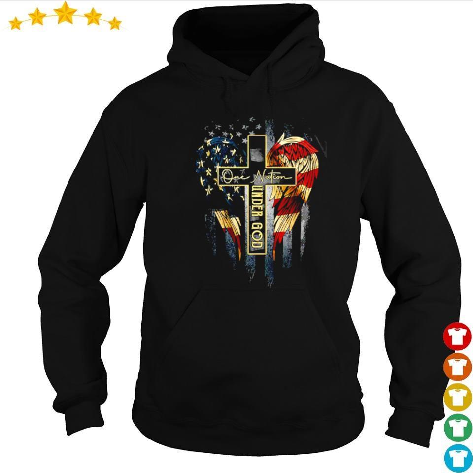 American Flag Wings one nation under God s hoodie
