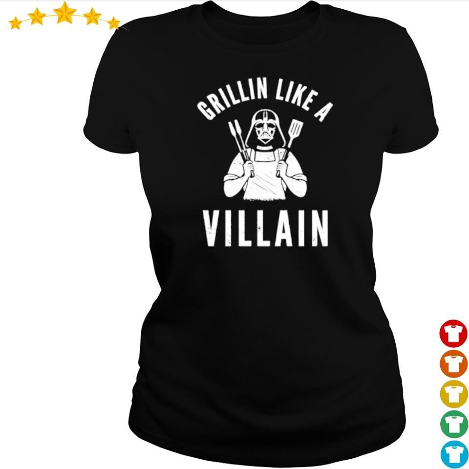 Darth Vader Grillin like a villain s ladies tee