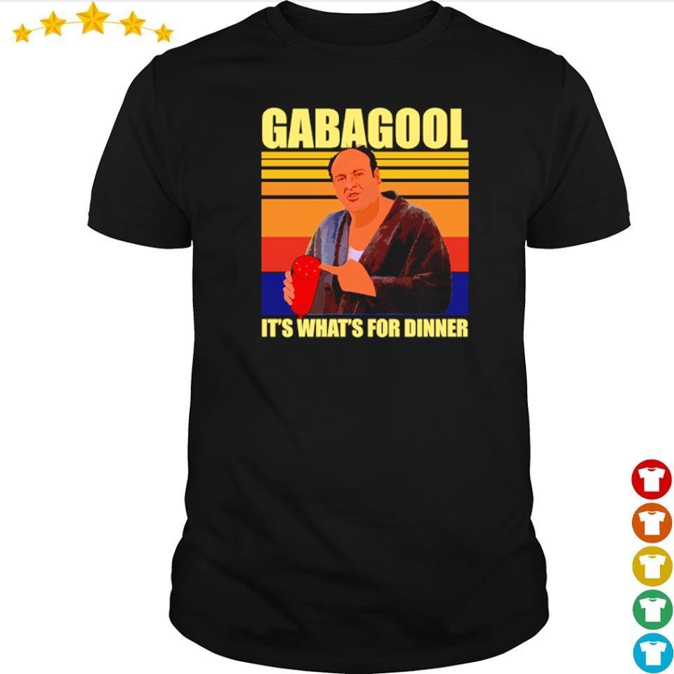 Gabagool it's what's for dinner vintage shirt