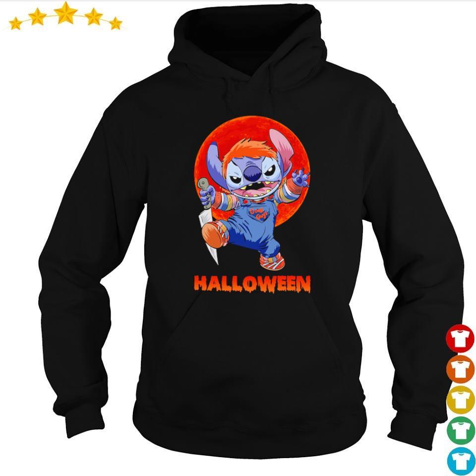 Halloween Stitch red moon s hoodie