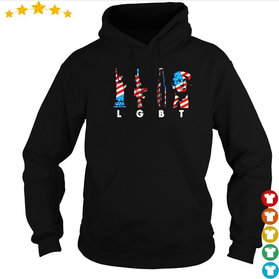 LGBT Liberty Gun Beer Donald Trump s hoodie