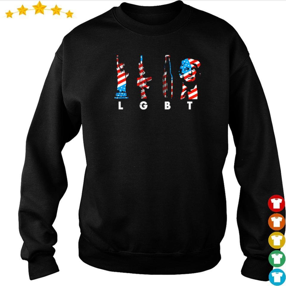 LGBT Liberty Gun Beer Donald Trump s sweater