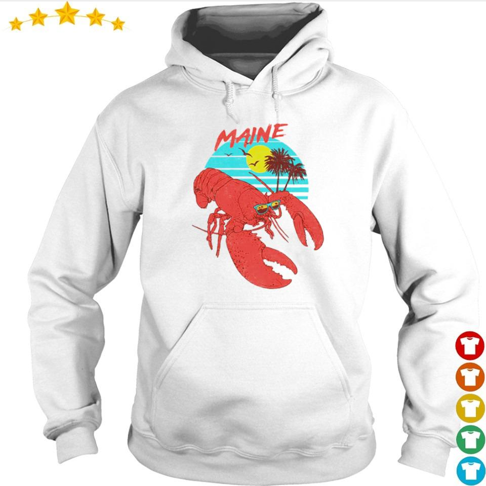 Lobster maine beach vintage s hoodie