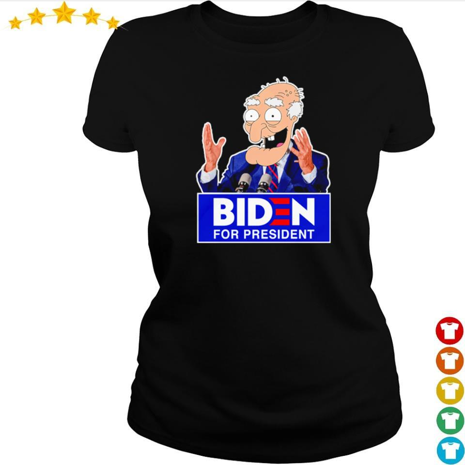 Old Biden for president s ladies tee